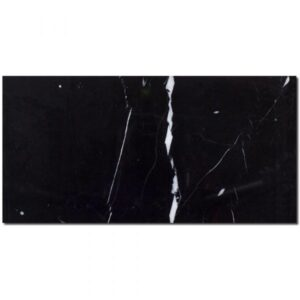 black subway tile nero marquina 3x6