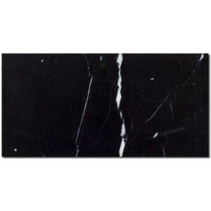 nero marquina 6x12 polished black subway tile