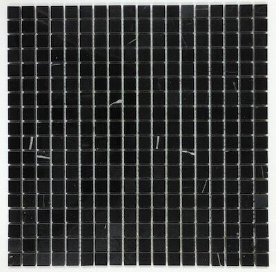 nero marquina mosaic 5/8
