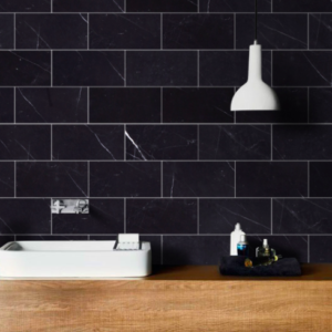 nero marquina subway tile