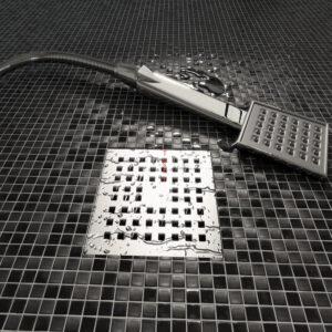 nero marquina 5/8 mosaic floor mosaic