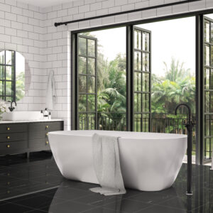 nero marquina polished 18x18 tile black marble